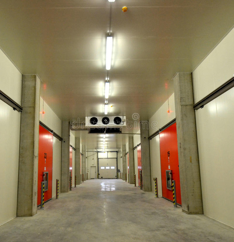 New Refrigerated Warehouse. Picture of a New Refrigerated Warehouse. Cold storage stock photos