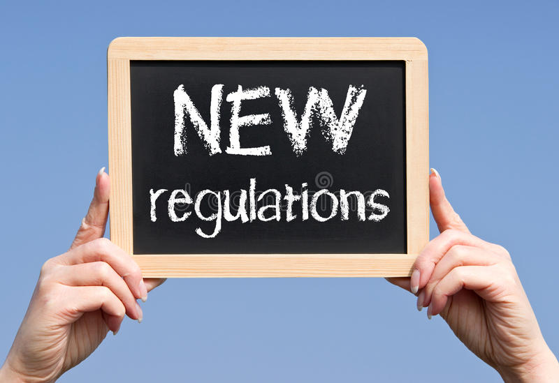 NEW Regulations royalty free stock photo