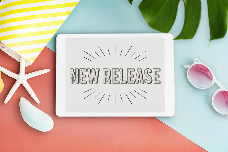 New Release Latest Brand Update Concept royalty free stock image