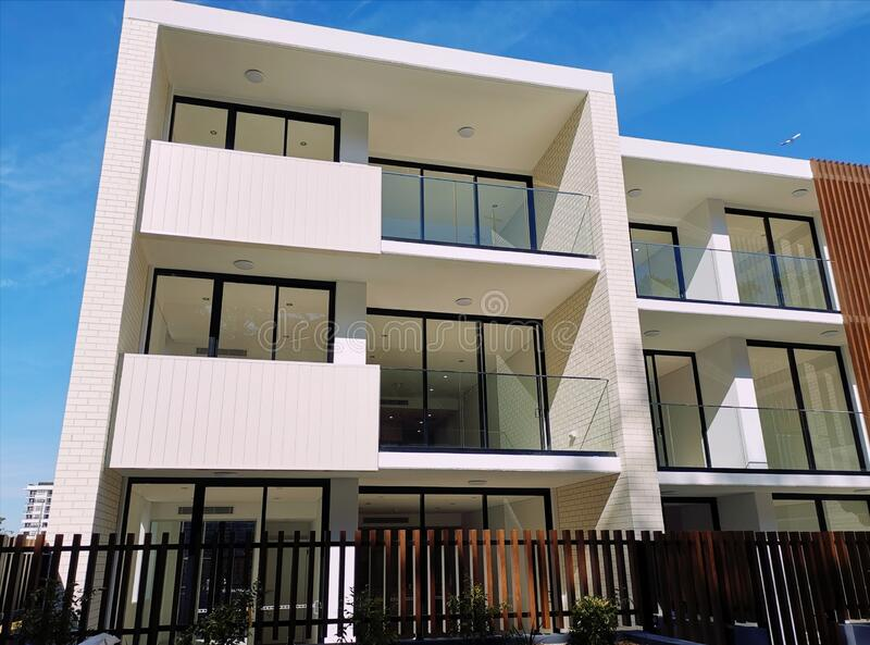 New residential apartments (units) for sale royalty free stock images