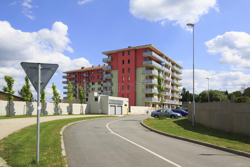New residential area in the town of Benesov stock photography