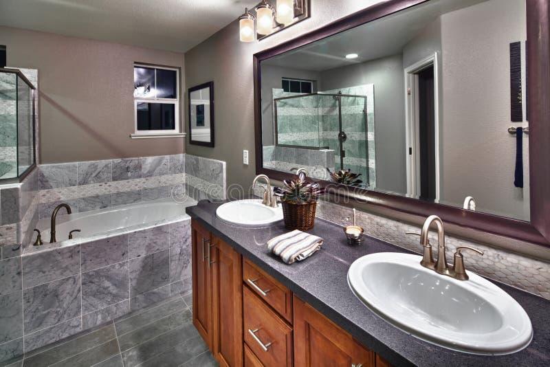 New residential bathroom stock photos
