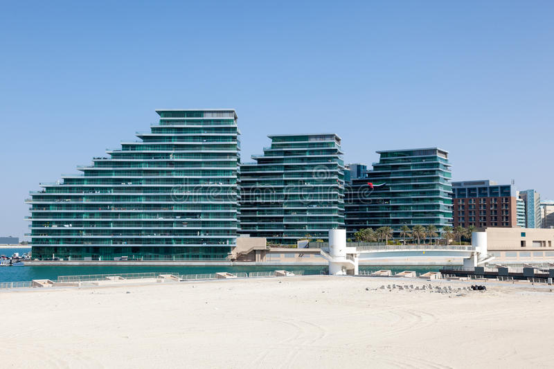 New residential buildings in Abu Dhabi stock images