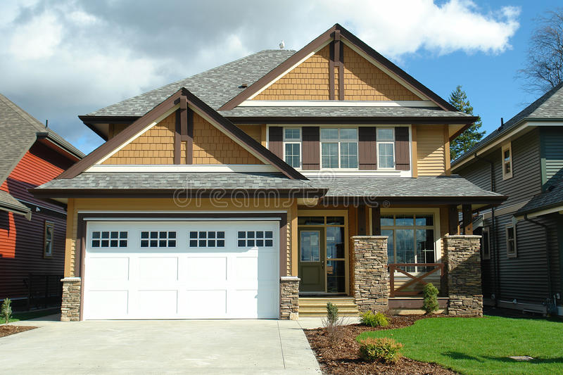 New Residential Home House royalty free stock photo