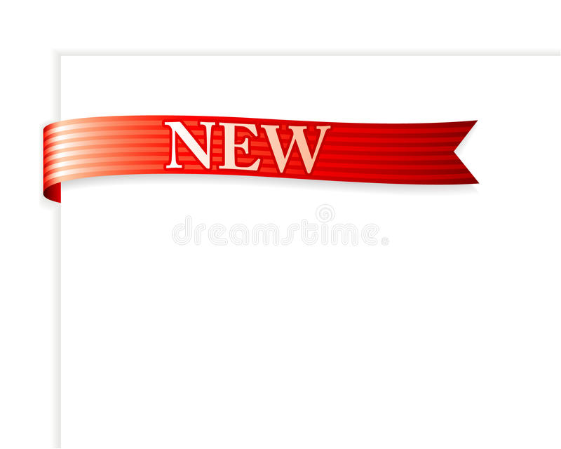 New Ribbon vector illustration