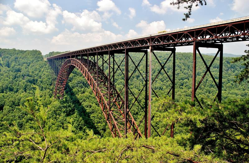 New River Gorge Bridge. The New River Gorge Bridge is the Eastern Hemisphere's largest single span arch bridge and is located in Fayetteville, West Virginia royalty free stock photography