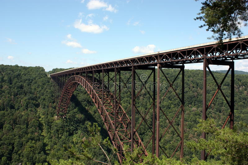 New River Gorge Bridge. Beautiful view of the New River Gorge Bridge in West Virginia stock photos