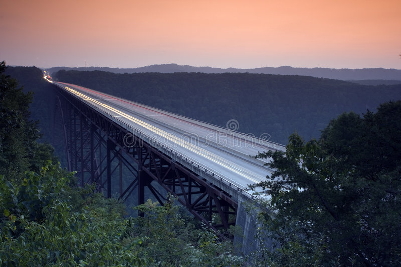New River Gorge Bridge. West Virginia royalty free stock images