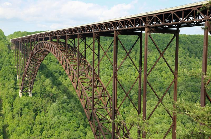 New River Gorge Bridge. Famous New River Gorge Bridge , West Virginia stock image