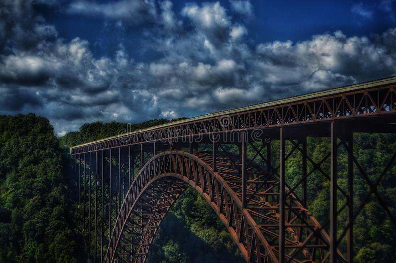 New river gorge bridge. Close up stock photos