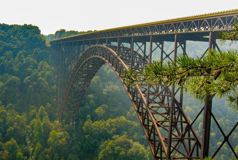 New River Gorge Bridge in West Virginia. The New River Gorge Bridge is a steel arch bridge 3,030 feet long over the New River Gorge near Fayetteville, West royalty free stock images