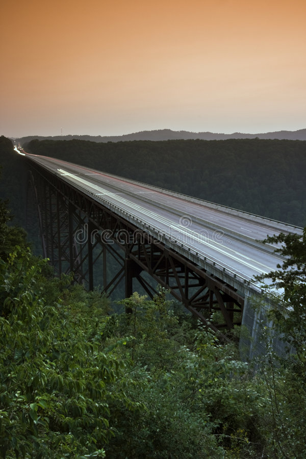New River Gorge Bridge - West Virginia. New River Gorge Bridge in West Virginia royalty free stock images