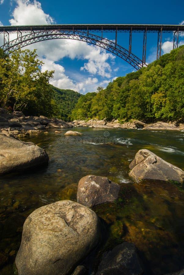 New River Gorge Bridge, West Virginia arkivfoto