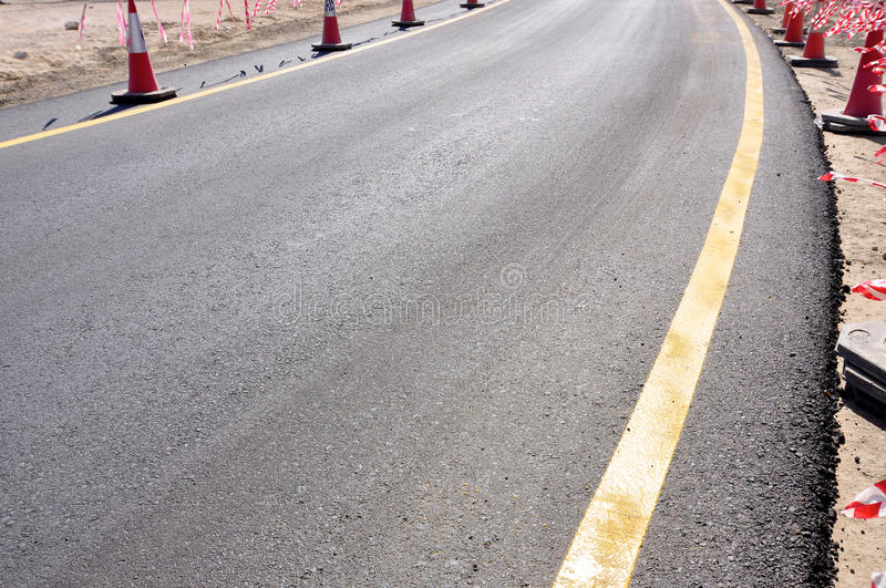 Download New road stock image. Image of finishing, cones, project - 23290503