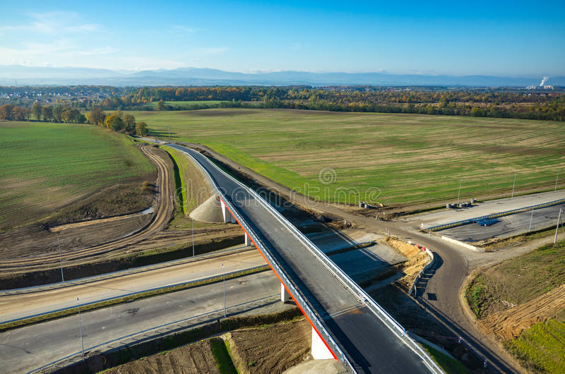 Download New Road Construction Site Aerial View Stock Image - Image: 83724271