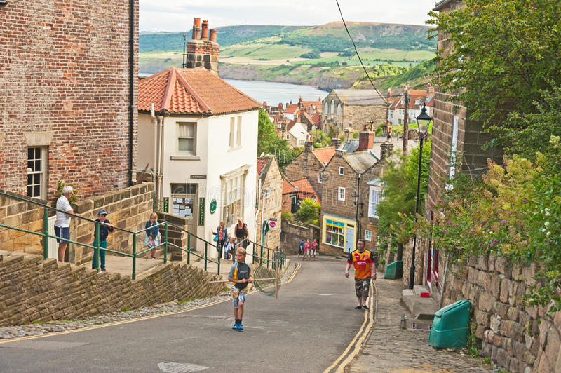 Download New Road Down To Robin Hoods Bay Editorial Stock Photo - Image of tourist, hoods: 59617373