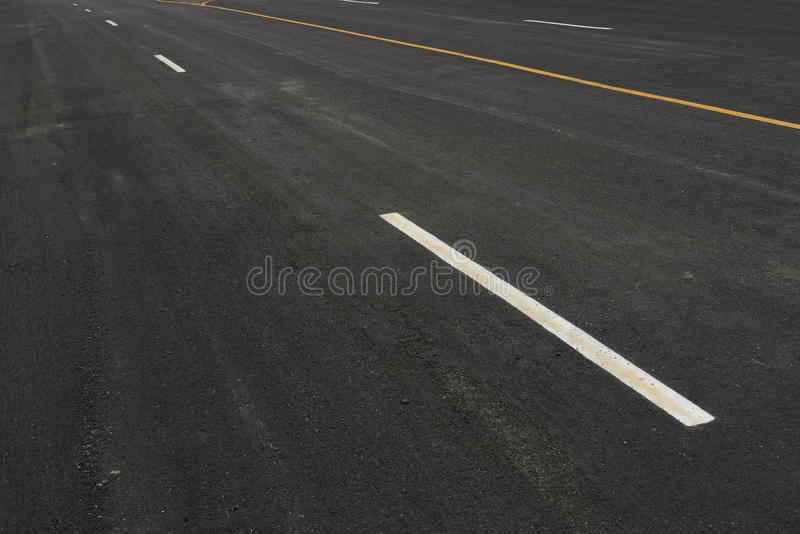 New road. Surface a new asphalt road way royalty free stock photo