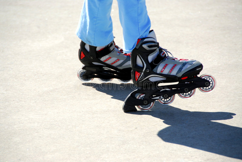 New rollerblades royalty free stock photos