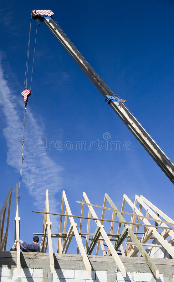 Download New roof stock image. Image of girder, rafters, girders - 3303121