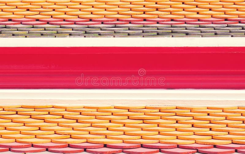 New roof tiles of Thai temple royalty free stock image