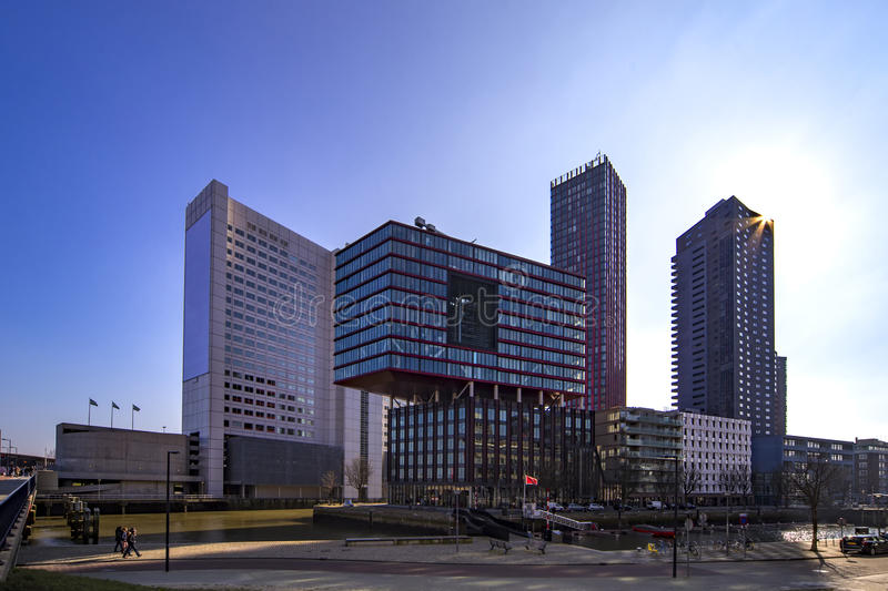 New Rotterdam royalty free stock photography