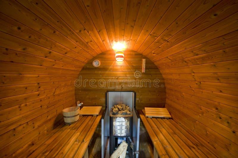 New round sauna royalty free stock photo