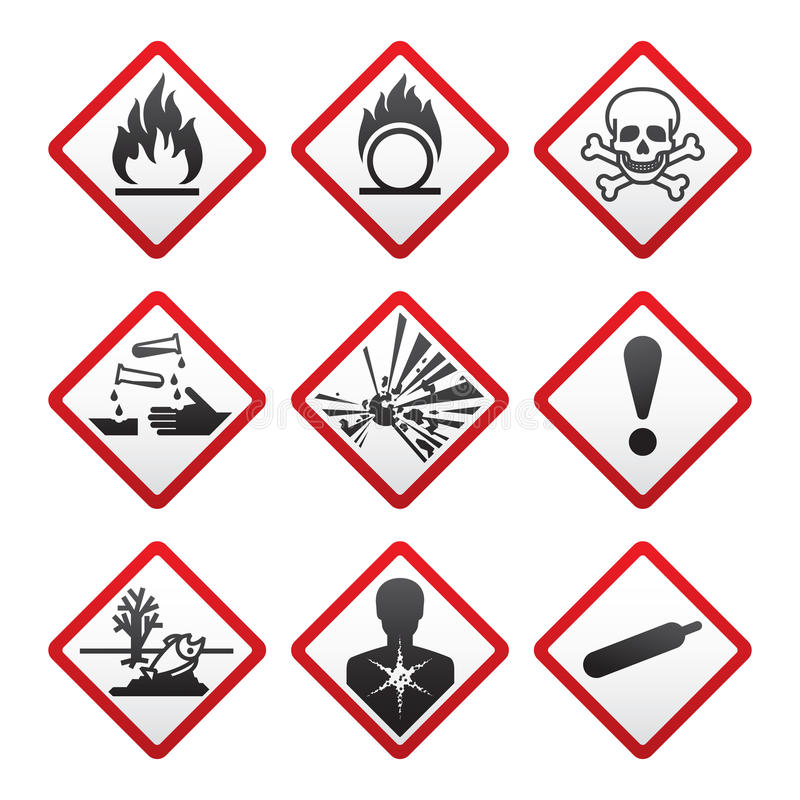 Download New safety symbols stock vector. Image of aquatic, gases - 19386018