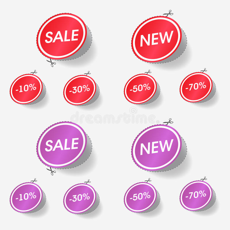 Download New and sale labels stock vector. Image of badge, product - 21615589