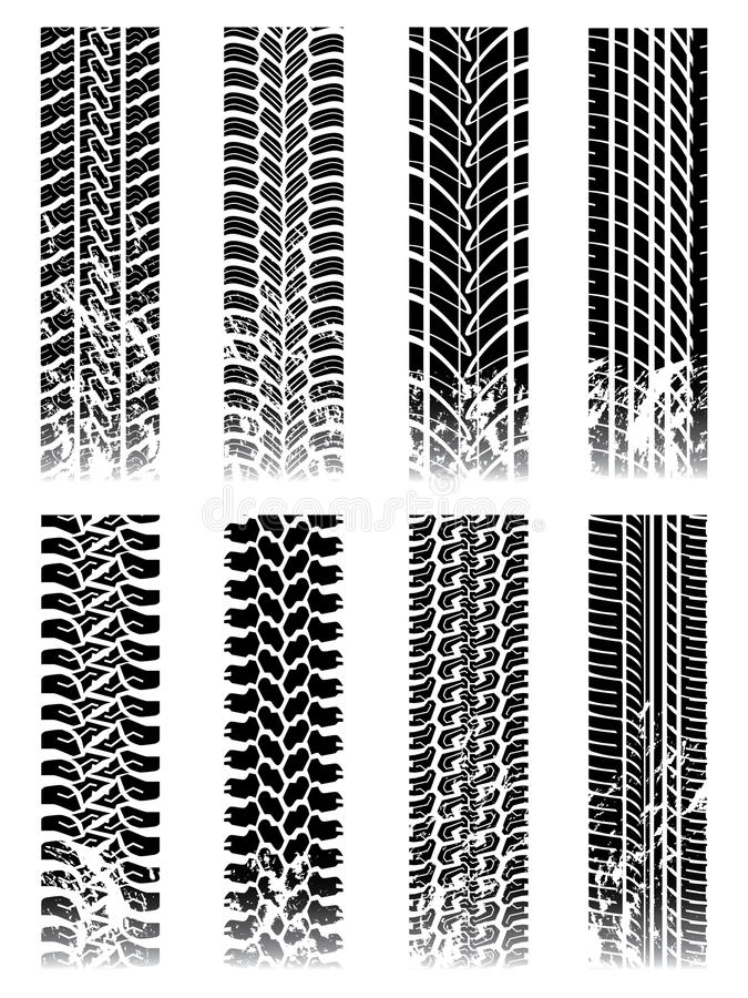 Download New set of tire tracks stock vector. Illustration of pattern - 13132904