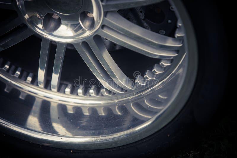 New shiny car rim royalty free stock photos