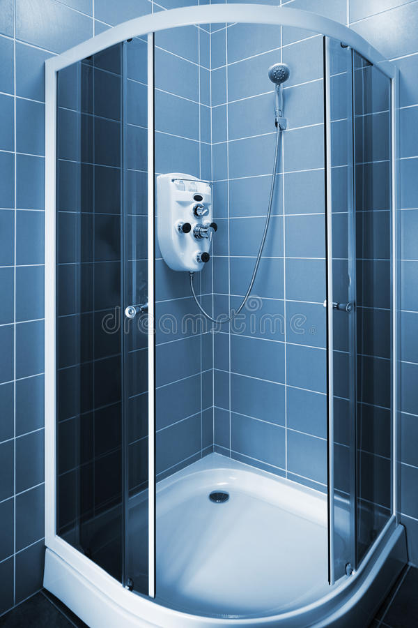 New shower cubicle stock photo. Image of cleaning, running - 12595228