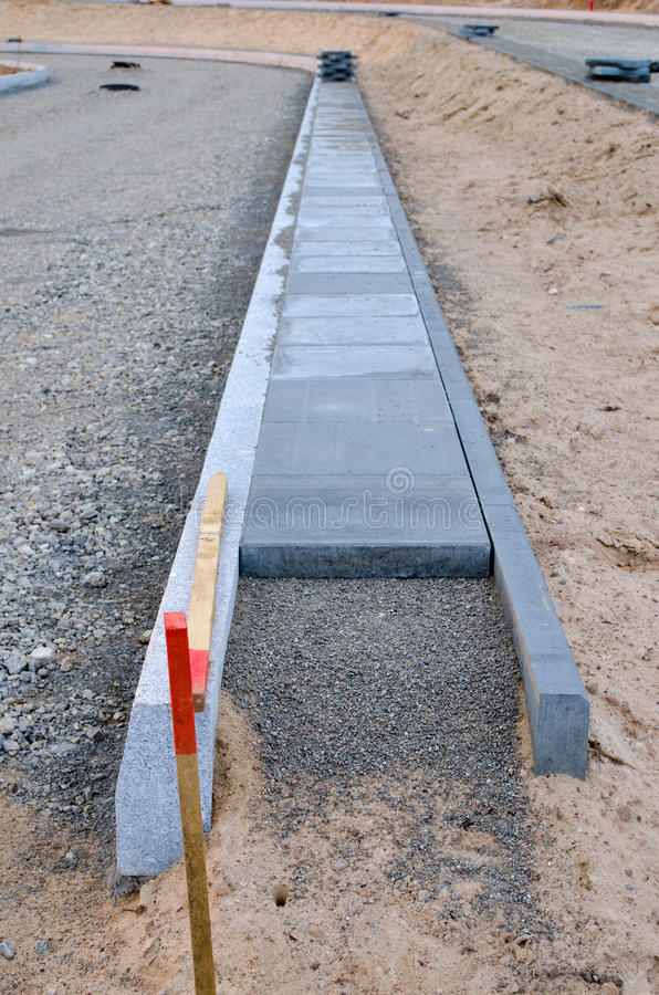 Download New Sidewalk Construction And Rubble Poured Stock Photo - Image: 25752912