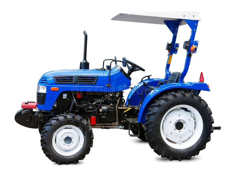New small tractor. stock images