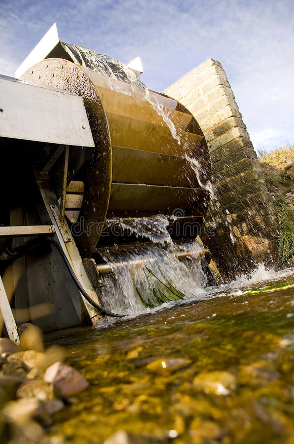 New small water wheel mill royalty free stock photography