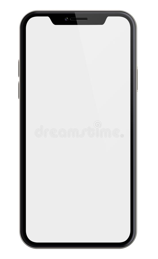Free New Smartphone Similar To Iphone X Isolated With Clipping Path Included Royalty Free Stock Photos - 111181908