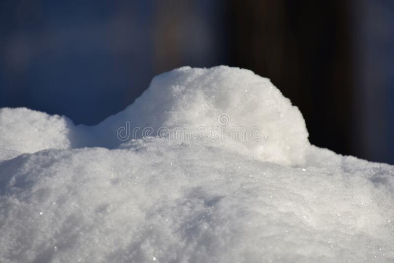 New snow in the morning winter in Quebec, Canada. Lanaudiere region stock images