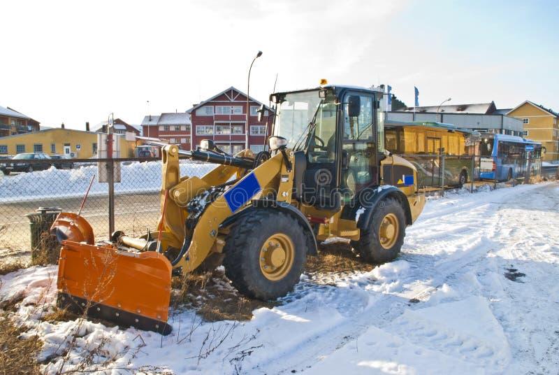 New snow plow. stock image