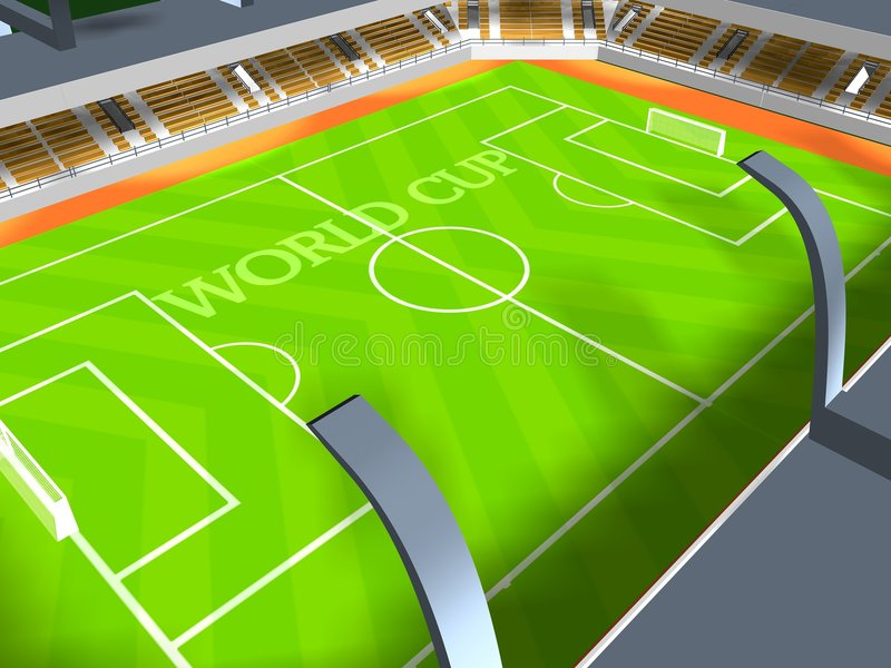 New soccer arena royalty free stock photo