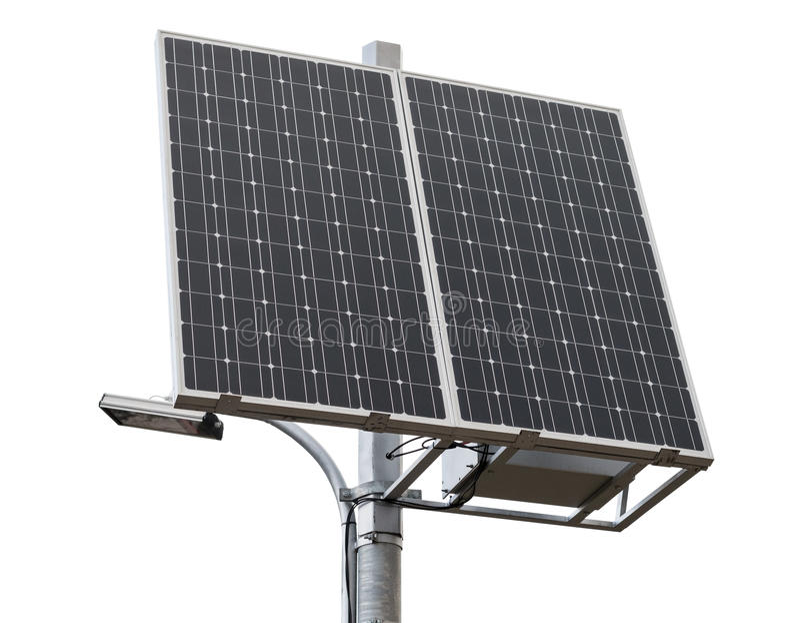 New solar panel over white. Background stock images