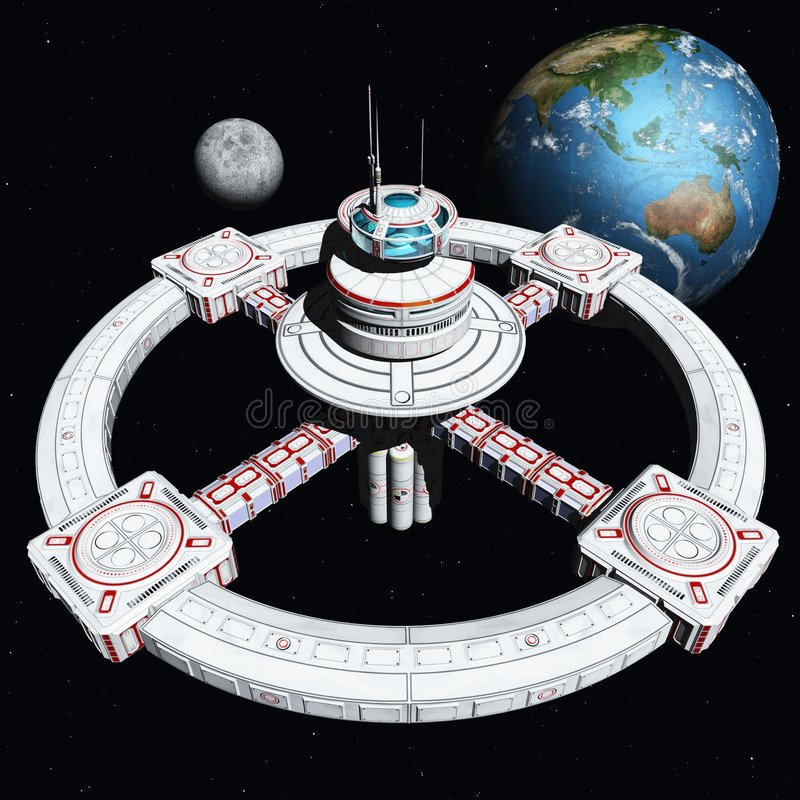 The New Space Station 2500 vector illustration