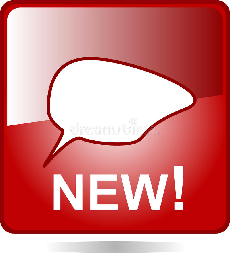 Free New Speech Bubble Icon Web Button Royalty Free Stock Images - 18445179