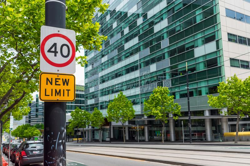 New speed limit stock images