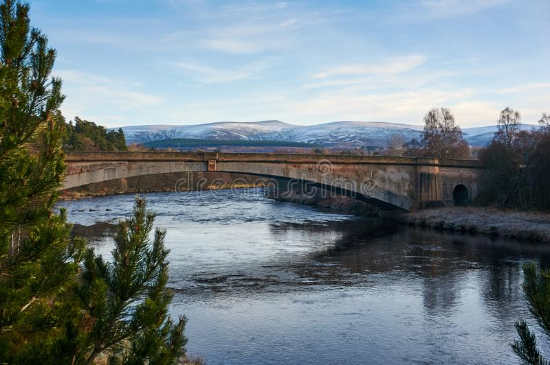 The New Spey Bridge over the river Spey stock photography