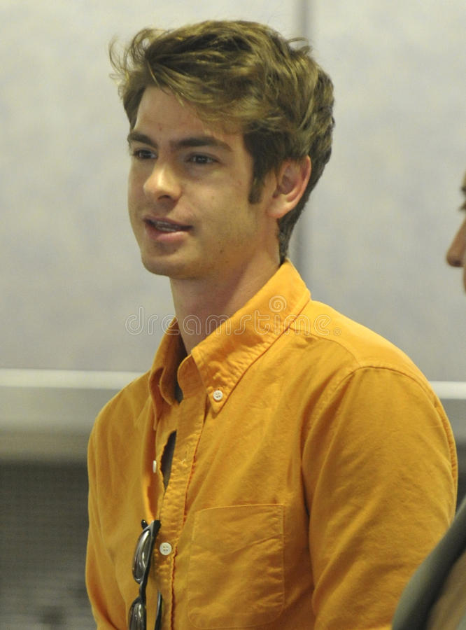 New Spiderman actor Andrew Garfield at LAX