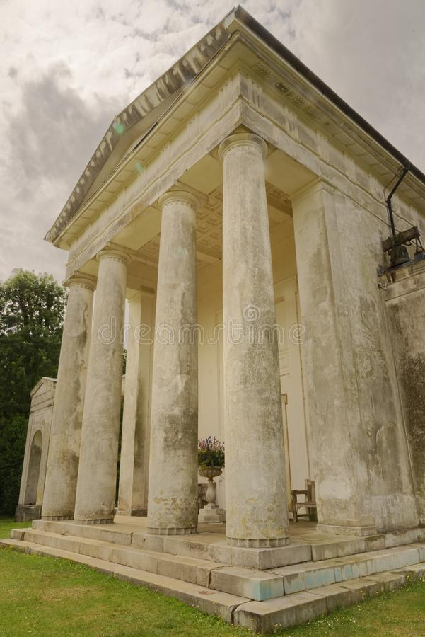 New St Lawrence Church, Ayot St Lawrence. neoclassical. St Lawrence Church is an eighteenth-century, neoclassical church in Ayot St Lawrence, Hertfordshire royalty free stock photography