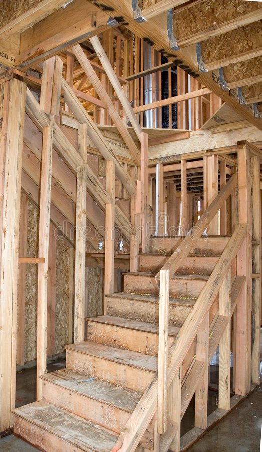 Download New stair way stock image. Image of labor, lumber, roof - 346961