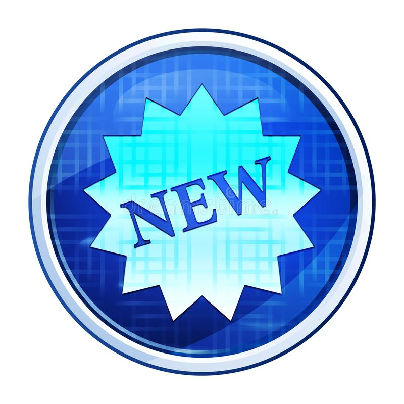 New star badge icon futuristic blue round button vector illustration. New star badge icon isolated on futuristic blue round button vector illustration vector illustration