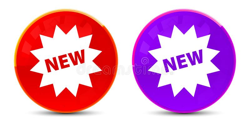 New star badge icon glossy round buttons illustration. New star badge icon isolated on glossy round buttons illustration royalty free illustration