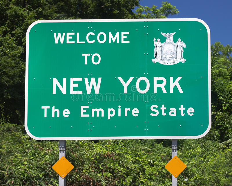 New State Sign stock images