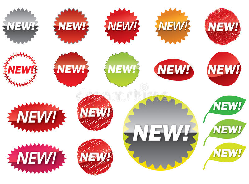 New Sticker Stock Image